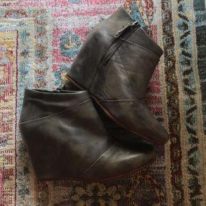 UGG Leather Wedge Booties